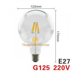 Bóng led bulb trang trí G125 Filament Edison E27 4w TL-Bulb04-G125