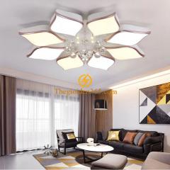 Đèn Mâm Led hiện đại 8 cánh ốp trần trang trí phòng khách 3 màu TL-ML08-A3