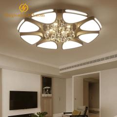 Đèn Mâm Led hiện đại 8 cánh gắn pha lê K9 ốp trần trang trí phòng khách 3 màu TL-ML08-A4